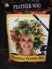 Red Black Feather Costume Wig Louisville Cardinals Team Fan Season Ticket Holder
