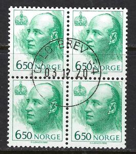 NORWAY, SC# 1014 BLOCK SOTN USED,  LOT 1-4-125