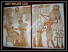 2 x Relief Ägyptische Bas Agypten Stuck gips Flachrelief Wandrelief Skulptur Lux