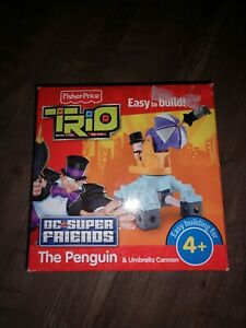 BRAND NEW! FISHER-PRICE TRIO BLOCKS: BATMAN DC SUPER FRIENDS, THE PENGUIN &...