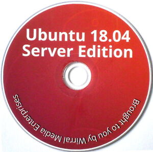 Linux Ubuntu OS Server Edition 18.04 LTS 64-bit on DVD PLUS 413-page Guide