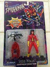 The Amazing Spider-Man Spider-Woman w/ Black Widow Assault Gear ToyBiz 1996 NEW