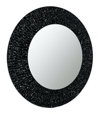 "Nightfall - Handcrafted Galaxy Decorative Glass Mosaic 24"" Round Wall Mirror"