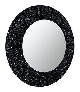 "Nightfall - Handcrafted Galaxy Decorative Glass Mosaic 24"" Round Wall Mirror"