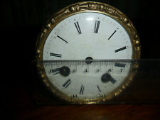 More details for vintage antique 8 day silk suspension french mantel clock movement bell strike