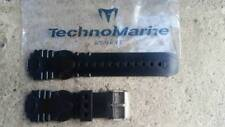 Authentic TechnoMarine Silicone Watch Strap Band Black 19MM Raft Rsx (45mm) NEW!