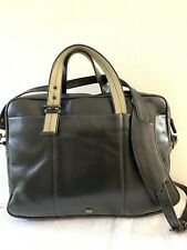 HIDESIGN @RADLEY Large Black Leather Briefcase Laptop MessengerShoulder Work Bag