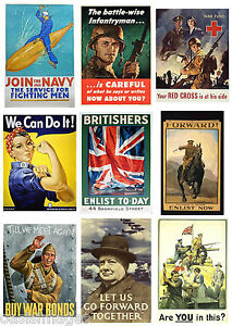 WORLD WAR POSTER IMAGES ON CD propaganda enlisting war bonds army nave airforce