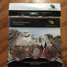 2013 Mount Rushmore Three-Coin 3-Coin Set America Mint Set N50 ATB Quarter