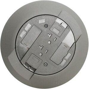 Legrand Wiremold RC3ATCGY Poke-Thru Device Assembly Flush Gray New