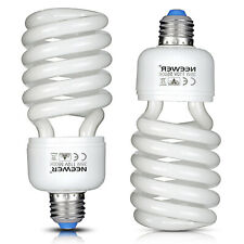 Neewer Studio 2 Pack 35W Tri-phosphor Spiral Cfl Daylight Balanced Light Bulb