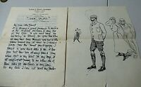 """1890's Manuscript Ruth Ashmore, """"Side Talks"""" """"Ladies Home Journal"""", Hand Drawing"""