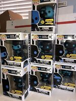 Funko POP! DC HEROES Justice League SILHOUETTES (Set Of 7) GITD EE Exclusive NEW