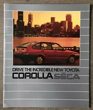 1985 Toyota Corolla Sēca original sales brochure