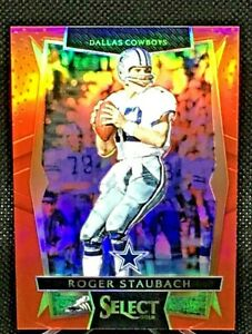 2016 Panini Select Football #21 Roger Staubach Red Prizm - Concourse SP/99