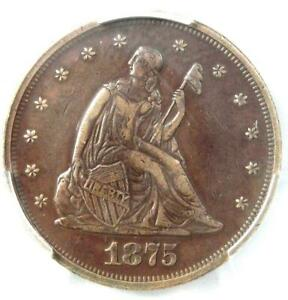 1875-P Twenty Cent Coin 20C - PCGS XF Details (EF) - Rare Date 1875 Coin!