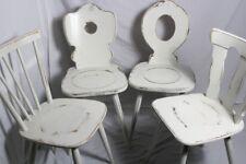 4x Küchenstuhl/Holzstuhl/Esszimmerstuhl/Stuhl weiß Vintage Shabby Chic 4er-Set