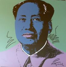 ANDY WARHOL MAO TSE TUNG BLUE SIGNED HAND NUMBERED 2213/2400 LITHO 毛澤東 zedong