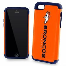 New In Retail Box Apple iPhone 5c 5s 5 and SE Denver Broncos Dual Hybrid Case