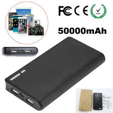 50000mAh Quick Power Bank Portable Dual USB Battery Charger for iPhone X 8 7 6 5