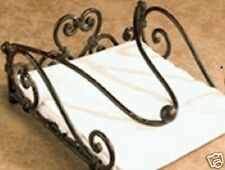 Handmade French Style Iron Paper Napkin Holder 19cm BLK