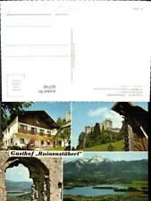 607745,Mehrbild Ak Latschach ob d. Faakersee Gasthof Ruinenstüberl
