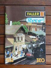 Catalogue trains Roco Faller 1982  - Toy train catalogue Roco HO