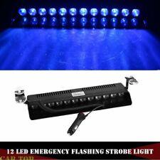 Blue 12 LED Car Auto Windshield Emergency Strobe Flash Light Warning Beacon Lamp
