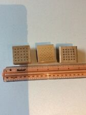 "D.O.T.S. set of 3 Rubber Stamps~ Unused ~ 1 1/2"" Square ~ Dots & Squares"