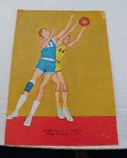 1961 High School Basketball Program Sandy Valley vs Jackson OH
