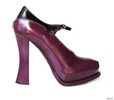NIB $925 PRADA violet purple leather MaryJane heels shoes 38.5 8.5 - gorgeous