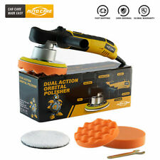 "6"" Dual Action Random Orbital Car Polisher Buffer Polishing Machine Pad Wax Kit"