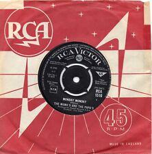 MAMA'S & THE PAPA'S     MONDAY MONDAY  / GOT A FEELIN    UK RCA    60s POP