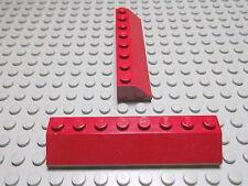 Lego 2 Schrägsteine 2x8 45 Grad dunkelrot   4445 Set 10155 5766 7298 7259