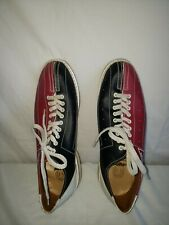 Bowling Shoes MENS SIZE 14— WOMENS SIZE 15.5  Black Red Good Condition AMF