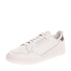 ADIDAS ORIGINALS CONTINENTAL Leather Sneakers EU 37 1/3 UK 4.5 US 6 Metallic