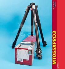 Manfrotto MT 055XPRO3 Aluminum Tripod Holds 19.8 lb (9 kg) Mfr # MT055XPRO3
