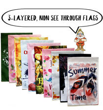 10 Seasonal Garden Flags - double sided outdoor garden flag set, 12X18 inches