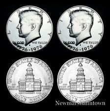 1776 1976 P+D+S+S Kennedy Half Dollar Mint Proof Set from Original Sets