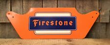 Vintage FIRESTONE TIRES Advertising Display Auto Gas Service Station Sign