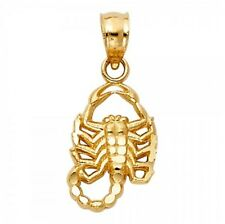 Real 14k Gold Small Scorpion Pendant Charm Horoscope Scorpio Necklace