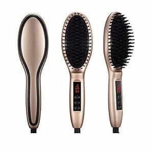 Ceramic Ionic Electric Hair Straightener Straightening Brush Comb Detangler