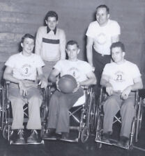1950s PHOTO WHEELING WV WHEELCHAIR BASKETBALL TEAM IN FAIRFIELD CA