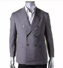 Canali Gray pinstripe Extra-fine Wool Blazer 52S Italy NWT