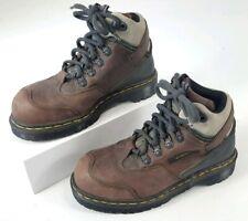 Doc Martens Air Wair Steel Toe Work Boots Brown Black UK 5 US Mens 6 Womens 7 a1