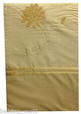 Lit simple housse de couette Clarissa gold Faus de rubans de soie brodé fleurs velours