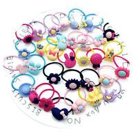 10Pcs Baby KIds Girls Hair Band Ties Rope Ring Elastic Hairband Ponytail Holder