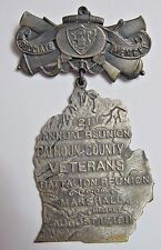 Spanish American War-Michigan Veterans Reunion Medal-Figural-1911-Marshall