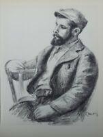 Auguste Renoir (Nach ) : Louis Valtat - Lithografie Unterzeichnet # Mourlot