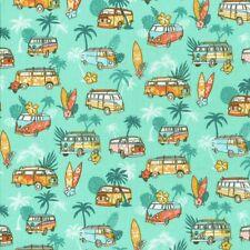 Textiles français SURF fabric 100% Cotton 160cm wide - Per half metre (Mint)